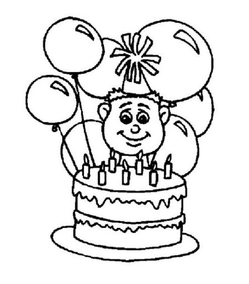 birthday cake coloring page new calendar template site