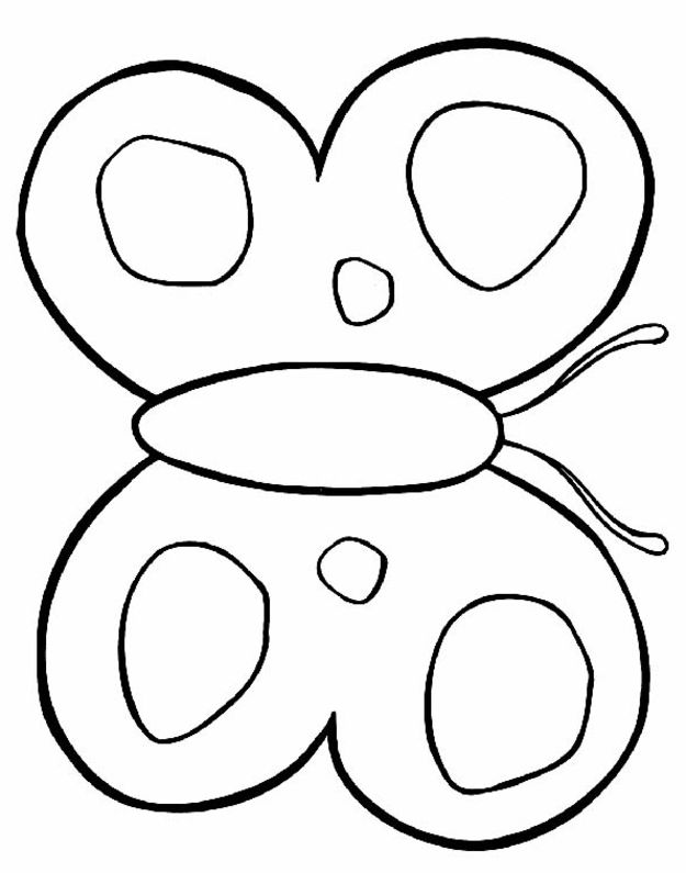 Coloring Now » Blog Archive » Butterfly Coloring Page