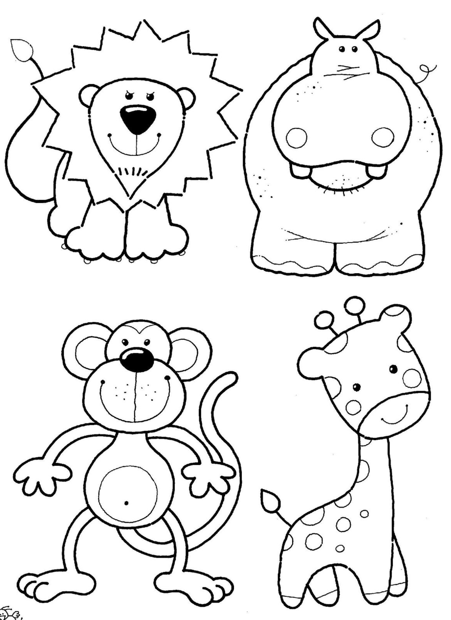 animal coloring pages free - photo#4