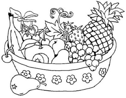 Coloring now blog archive fruit coloring pages for Fruit coloring pages for adults