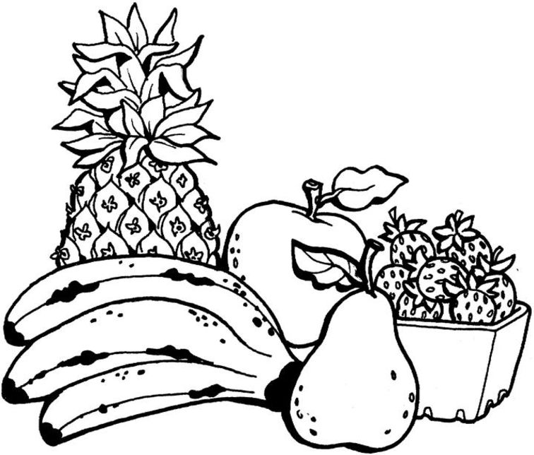 frutas coloring pages - photo#11