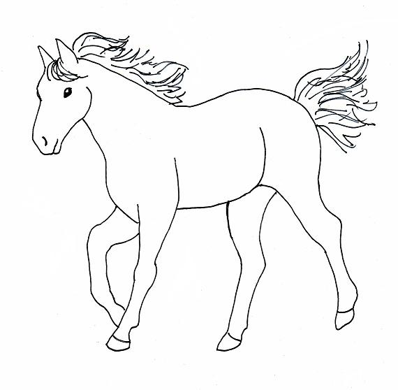 Coloring Now  Blog Archive  Horse Coloring Pages to Print
