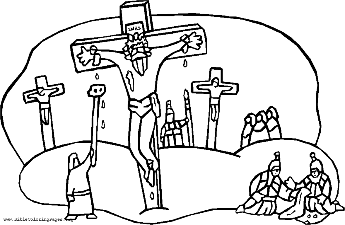 Jesus Walks On Water Coloring Page #2