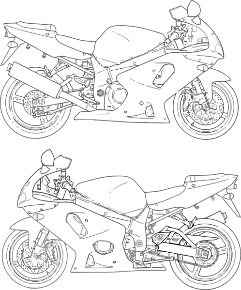 suzuki motorcycle colouring pages