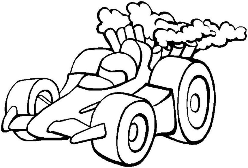 Colouring In Sheets Racing Cars Free printable race car coloring