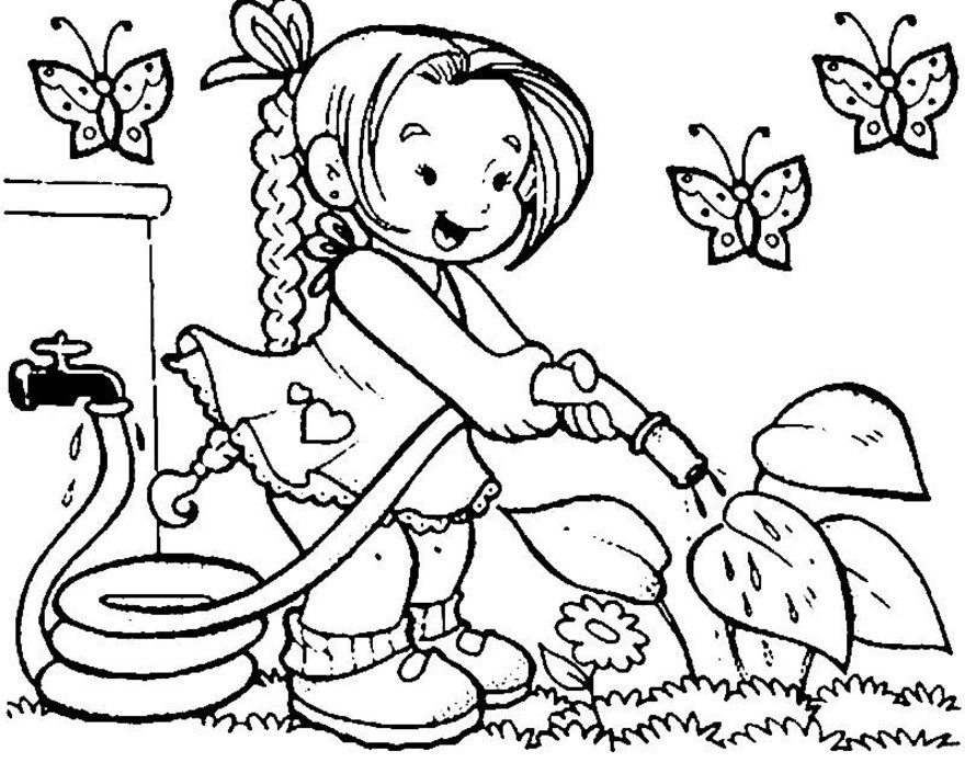 garden coloring pages games online - photo#15